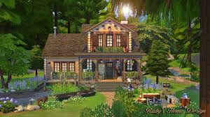 Home Designs Sims 4 Sims4 Forest Cabin 森林木屋 Ruby U0027s Home Design