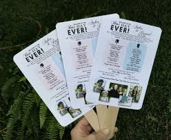 fan program themed wedding ideas and inspiration social stationery wedding
