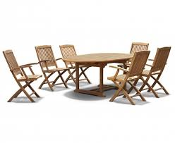 Teak Patio Dining Table Brompton Teak Extendable Garden Table And Chairs Teak