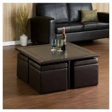 Storage Living Room Tables Coffee Table With 4 Storage Ottomans Foter