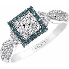 sterling silver engagement rings walmart keepsake azura 3 8 carat t w certified blue and white