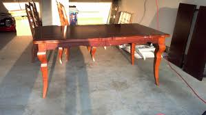 how to seal painted dining room table tables for white blue red