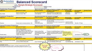 Decision Matrix Excel Template Balanced Scorecard Template Excel Balanced Scorecard