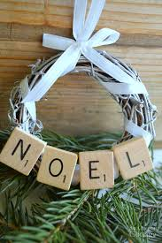 diy scrabble tile grapevine wreath ornament