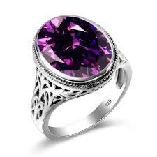 rose gold wedding set amethyst wedding rings get cheap amethyst black gold wedding ring set