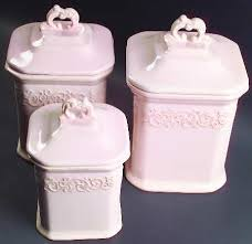pink canisters kitchen jcpenney vintage pink at replacements ltd