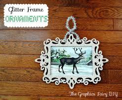 glass glitter frame ornaments hometalk