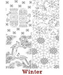 seasons mini coloring book whispers nature