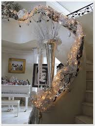 Christmas Lights For Stair Banisters Winter Wonderland For My Banister Purple Chocolat Home