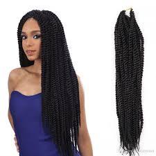 medium size packaged pre twisted hair for crochet braids 18inch senegalese twist braid crochet hair twisting kanekalon hair