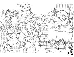 barbie mermaid coloring pages coloring pages free