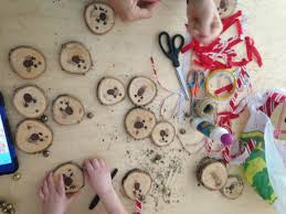 reindeer thumbprint tree cookie decoration inspired by play