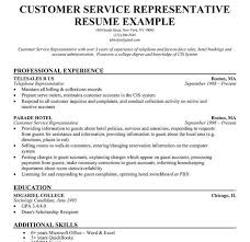 Resume Template For Customer Service Customer Service Representative Resume Template Resume Template