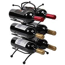 sorbus wine rack stand sorbus 6 bottle freestanding wine holder rack classic