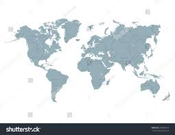 Geography Map World Map Flat Style Vector Illustration Stock Vector 263860157