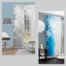 home wohnideen schiebevorhang flocke weihnachten schiebevorhang schiebegardine raumteiler home