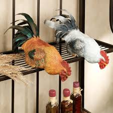 French Style Kitchen Cabinets Rooster Shelf Sitter Set Rooster Kitchen Decor French Style
