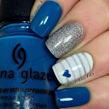 best 25 blue and white nails ideas on pinterest summer nails