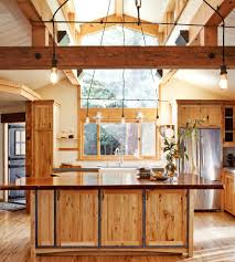 redwood cabinets kitchen rustic with live edge wood counter in