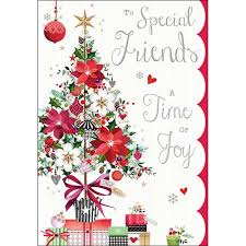 luxury christmas card jj8800 u2013 special friends u2013 tree and gifts