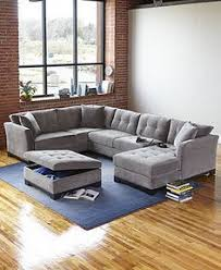 Macys Sectional Sofa Elliot Fabric Sectional Living Room Furniture Collection