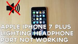 apple lighting to headphone apple iphone 7 plus lighting headphone port not working youtube