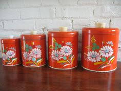 vintage canisters with everyday pottery i antique online