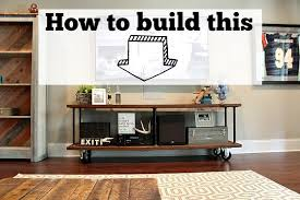 console table under tv how to build an industrial console table refresh restyle
