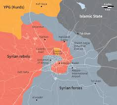 Map Of Syria And Russia The Fall Of Aleppo
