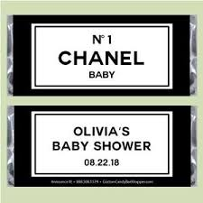 chanel baby shower chanel baby shower candy bar wrappers announce it