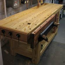 Woodworking Bench Plans Roubo by Roubo Holtzapffel Hybrid Bench With Tool Tray End Vise Idea