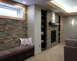 basement stacked stone wall decorating ideas basement masters