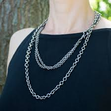 silver necklace chain lengths images Antiqued silver chain necklace jenne rayburn jpg