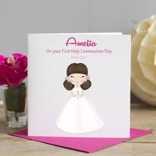 Invitation Card For Holy Communion First Holy Communion Card By Lisa Marie Designs