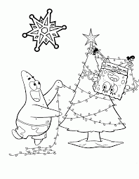 spongebob christmas coloring pages free printable coloring home