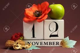november seasonal flowers save the date seasonal individual calendar for november 12 with