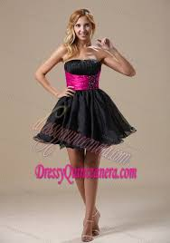 quince dama dresses a line beaded quinceanera dama dresses in black and hot pink