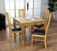 small kitchen table sets oiled walnut tone finish classical