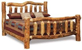 log bedroom furniture amish rustic log bed from dutchcrafters amish furniture