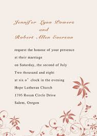 Simple Wedding Invitations Exciting Simple Wedding Invitation Wording From Bride And Groom 72