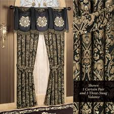Swag Curtains With Valance Imperial Damask Swag Valance And Curtains