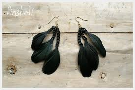 how to make feather earrings with feather earrings