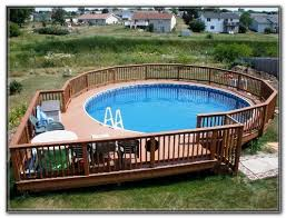 above ground pool deck designs ideas decks home decorating