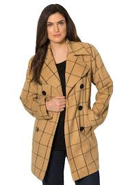 classic wool pea coat plus size coats bargain catalog outlet