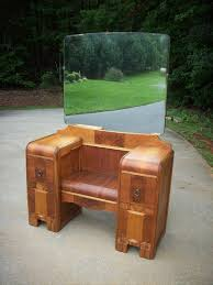 Antique Vanity With Mirror And Bench - vintage art deco waterfall antique vanity dressing chest dresser