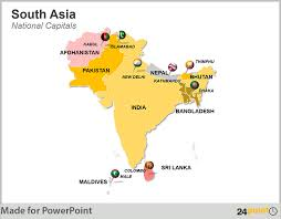 map of asia countries and cities south asia maps countries capitals provinces powerpoint
