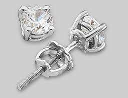 diamond back earrings threaded or friction earring backs diamond stud earrings