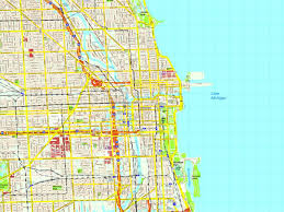 Chicago City Map by Chicago Map Eps Illustrator Vector City Maps Usa America Order