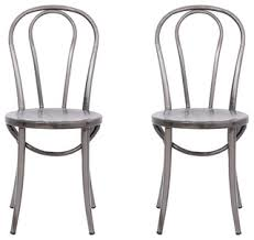 Industrial Dining Chair Cassidy Bistro Chairs Set Of 2 Industrial Dining Chairs By