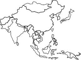 Blank East Asia Map by World Coloring Map 4549